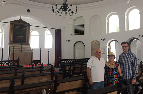 Pierre, my husband and I in the church