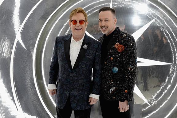 Elton John and David Furnish at Oscar party on Feb. 26, 2017 (Photo: Elton John AIDS Foundation)