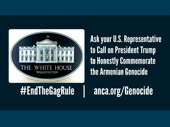The ANCA is mobilizing grassroots support for a Congressional letter asking President Trump to honestly and accurately commemorate the Armenian Genocide.