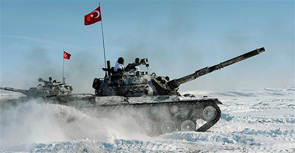 Turkish Armed Forces (TSK) launched its bi-annual winter military exercise in the border province of Kars between Feb. 14 and 16 (Photo: AA Photo)