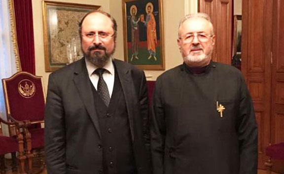 Bishop Mashalian (left) and Archbishop Ateshian