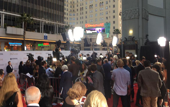 """The scene outside of the TCL Chinese Theater during the premiere of """"The Promise"""""""