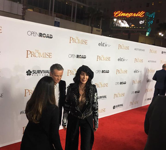 Armenian-American actress Cher on the red carpet