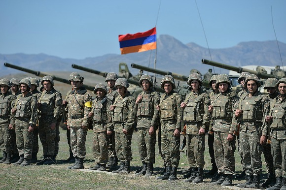 Artsakh Soldiers on a military base (Photo: President of the Republic of Armenia)