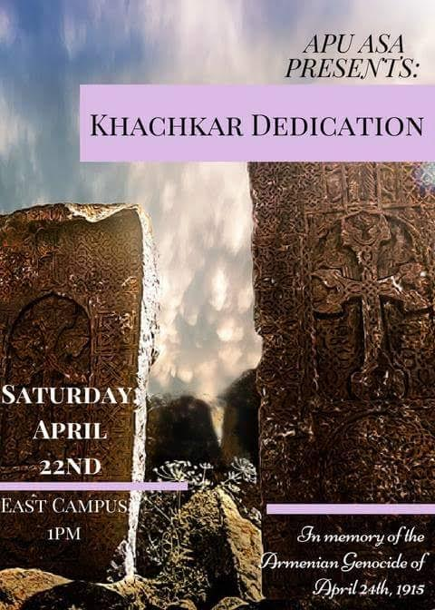 Azusa Pacific University's Armenian Students Association will reveal a cross stone in remembrance of the Armenian Genocide on April 22, 2017