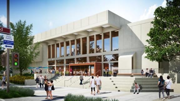 Rendering of the Glendale Central Library. The library will reopen on May 1, 2017 (Image: MyGlendale)