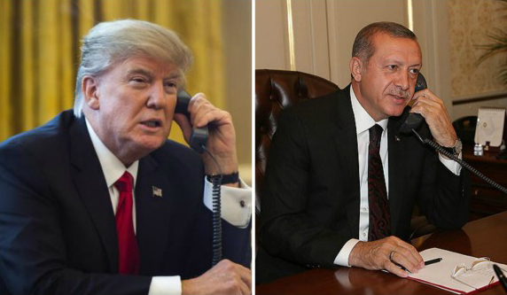 "U.S. President Donald Trump calls Turkish counterpart Recep Tayyip Erdogan on April 17, 2017 to congratulate him on constitutional referendum ""victory."""