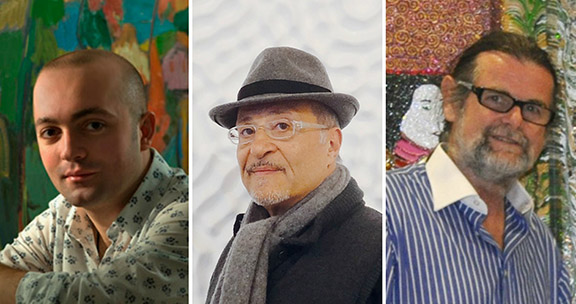 (From left to right) Artists Rafael Megall, Jean Boghossian, and Miro Persolja will represent Armenia in the 57th annual Venice Biennale