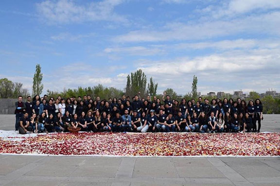 Annual flower cleanup at the Genocide Memorial (Photo: AEF)