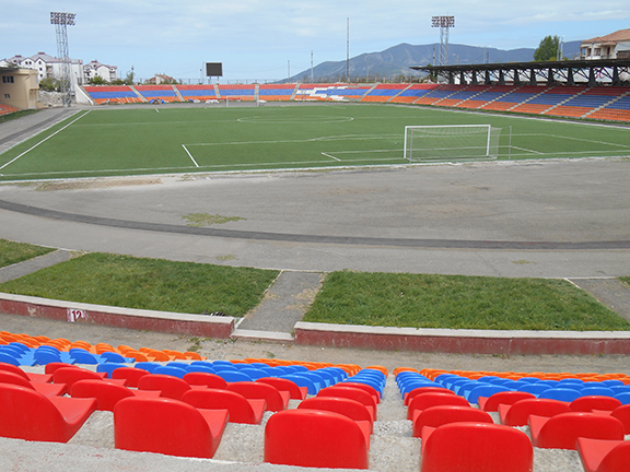 A closer look at the Stepanakert Stadium (Photo by Karen Vanyan)