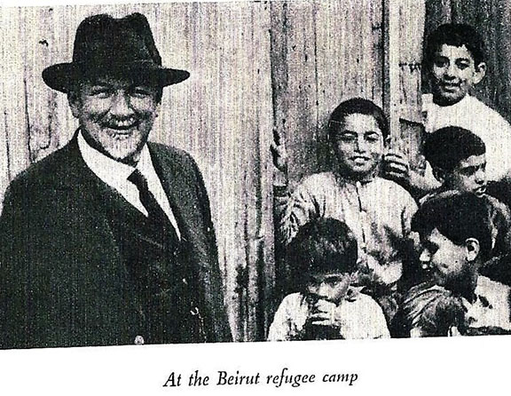 Dr. Kuenzler with orphans at a refugee camp in Lebanon