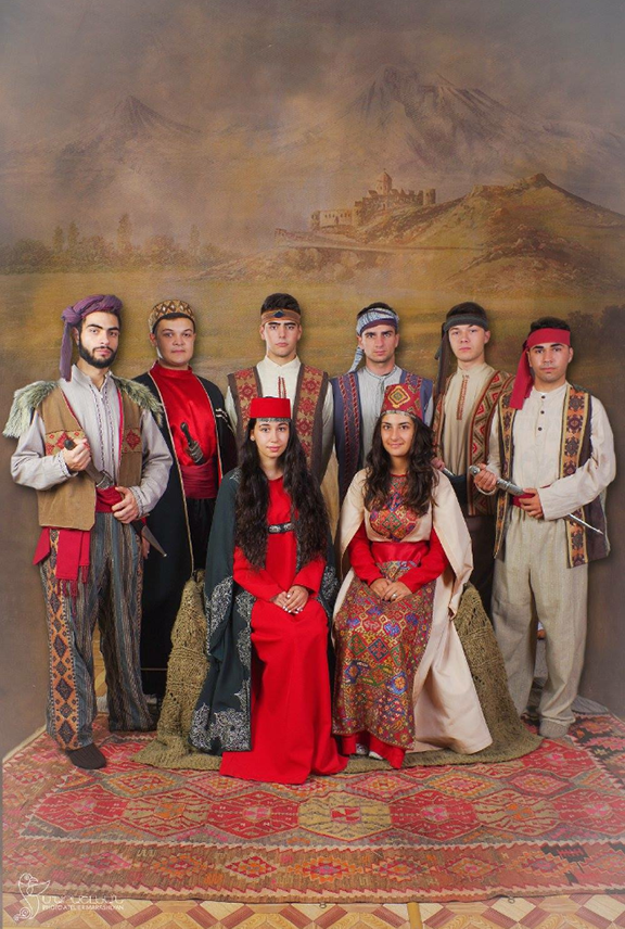 Friends at Photo Altier Marashlyan, dressed in our ancestral clothing, each specific to a different region