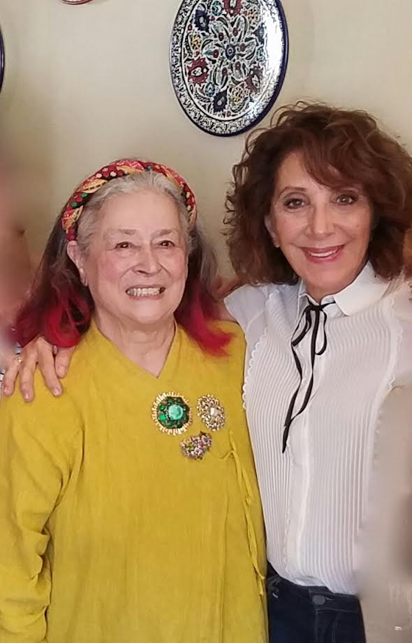 Arts advocate Joan Agajanian Quinn (left) with actress Andrea Martin