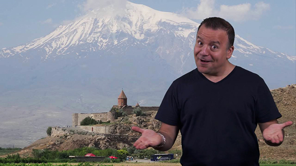 """Comedian Kev Orkian to release a film in early 2018 titled """"Armenia Uncovered"""" (Photo: Armenia.com)"""