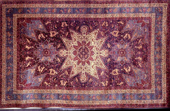 The orphans made a rug for the then president of the United States Calvin Coolidge