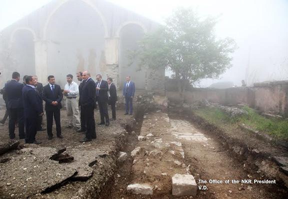 Excavation site of Shush's Meghretsots Church