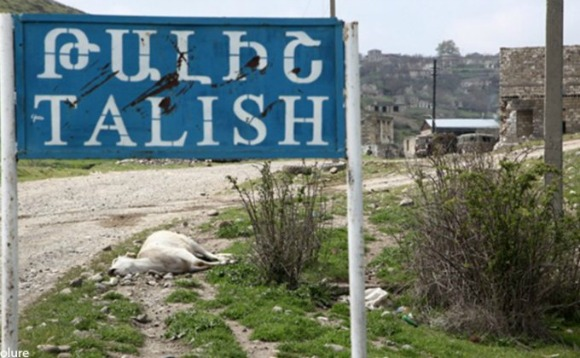 Entrance to the village of Talish in the Artsakh Republic (Photo: Artsakhpress)