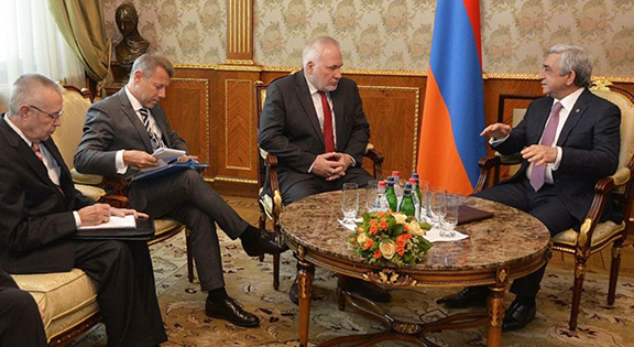 The Minks Group delegation meets with President Serzh Sarkisian