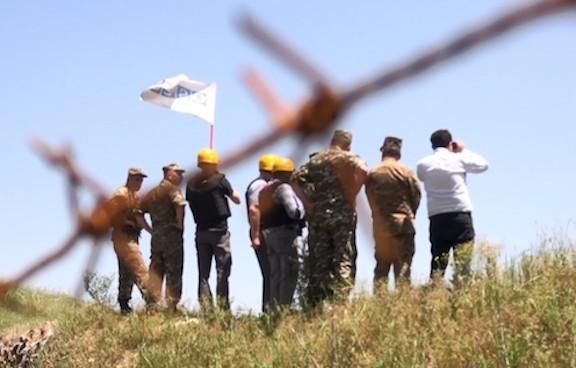 OSCE monitors on the Armenia-Azerbaijan border
