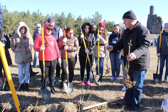 Last fall, ATP began the beautification of the site honoring General Dro and the Battle of Bash Aparan by planting nearly 1,000 trees with volunteers from Birthright Armenia