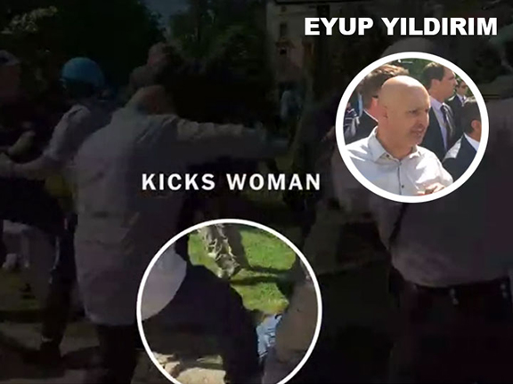 Turkish American businessman Eyup Yildirim was among two arrested by Metropolitan Washington DC Police in conjunction with the May 16th Erdogan-ordered beating of peaceful protesters. The New York Times had identified Yildirim among the attackers in a June 4th expose.