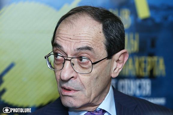 Armenia's Deputy Foreign Minister Shavarsh Kocharyan at a press conference on June 8