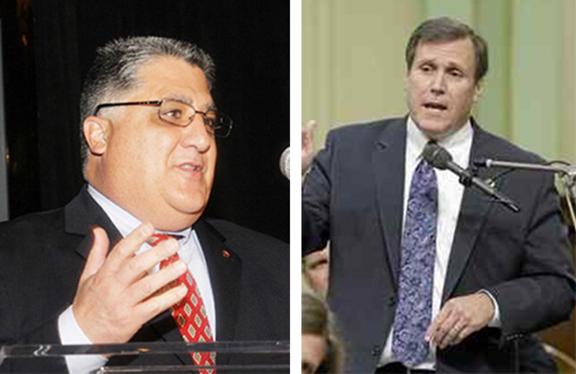 State Senators Anthony Portantino (left) and Scott Wilk