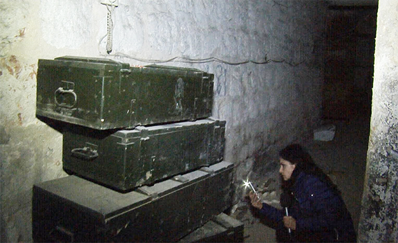 In December, Trud reporter Dilyana Gaytandzhieva found and filmed 9 underground warehouses fullof heavy weapons with Bulgaria as their country of origin in Eastern Aleppo.