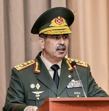 Azerbaijan's Defense Minister Zakir Hasanov