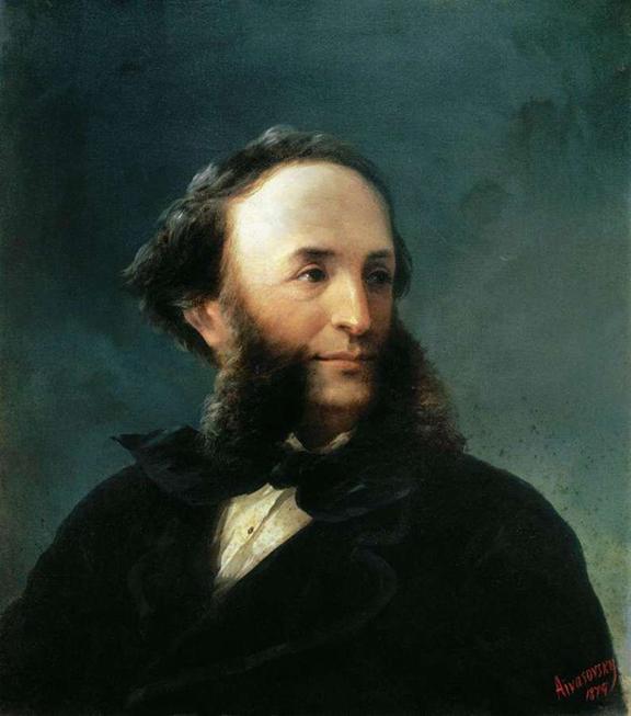 Aivazofsky Self-portrait, 1874, oil on canvas