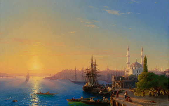 View of Constantinople  and the Bosphorus (1856