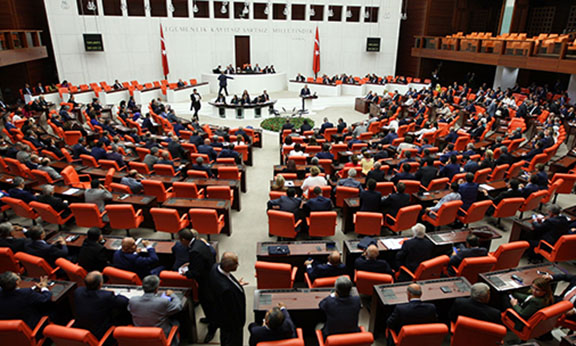 A general view of the Turkish Parliament