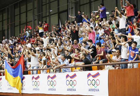 The crowd goes wild at Mika Stadium in Yerevan on Wednesday