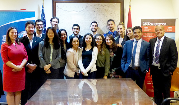 East Los Angeles College (ELAC) Washington DC Hilda Solis Internship and Armenian National Committee of America (ANCA) summer fellows at our inaugural networking event in the nation's capital.