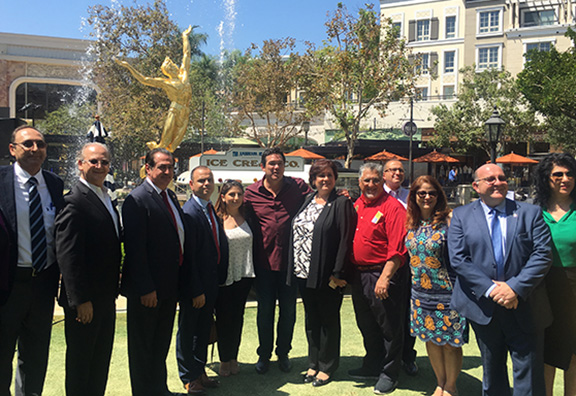 Participants of the ANCA Glendale press conference at Americana at Brand