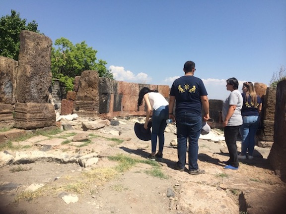 At excavation site
