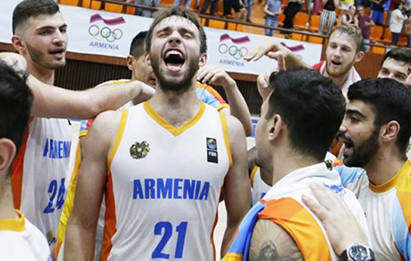 Armenia's #21 Aram Mkrtchyan following Wednesday's game