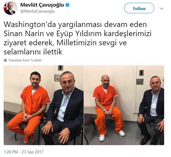Çavuşoğlu's tweet (Photo: Mevlüt Çavuşoğlu Twitter)