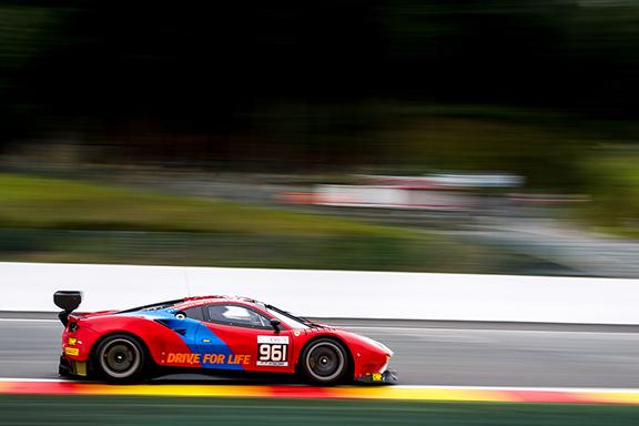 Demirdjian's Ferrari emblazoned with the Armenian tri-color