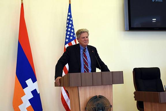 Rep. Frank Pallone speaking in Artsakh