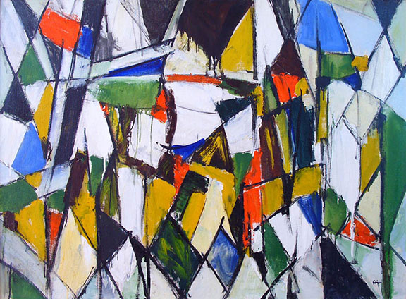 No. 4687. Untitled, 1960. Oil on canvas, 29 x 40 in. (Photo: http://pinajianart.com/largeformat/index.html)