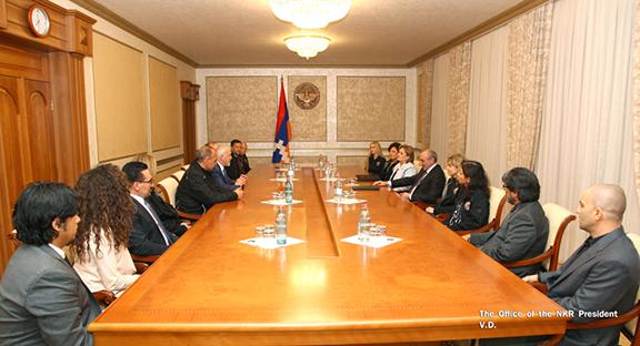 Fresno doctors meeting with Artsakh President Bako Sahakian (Photo: Office of the NKR President)