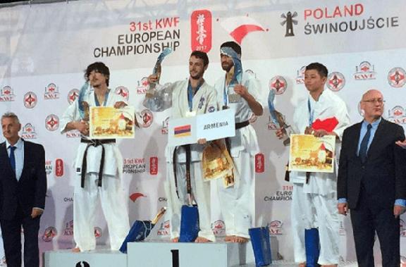 Artur Arushanian (center) was named European champion