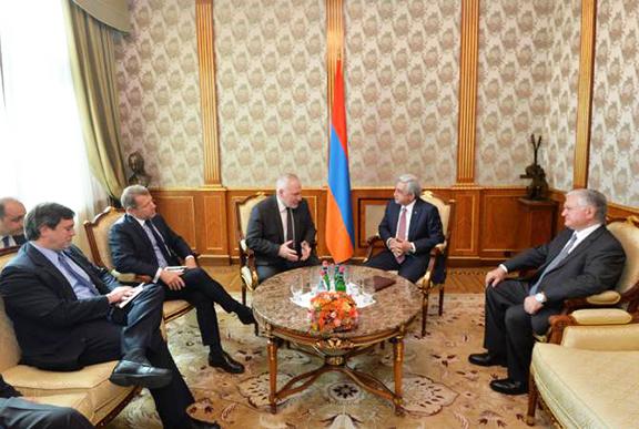 OSCE Minsk Group Co-chairmen meet with President Serzh Sarkisian on Friday in Yerevan