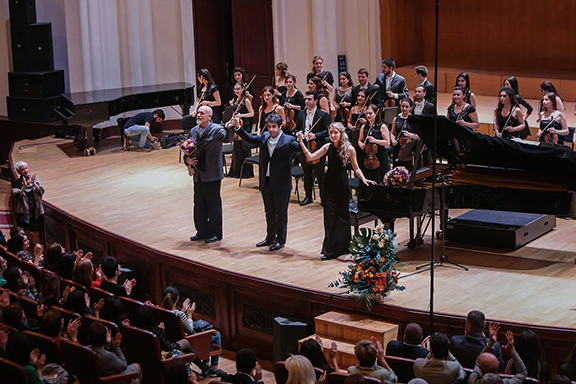 The performers during the conclusion of the event (Photo: Panorama.am)