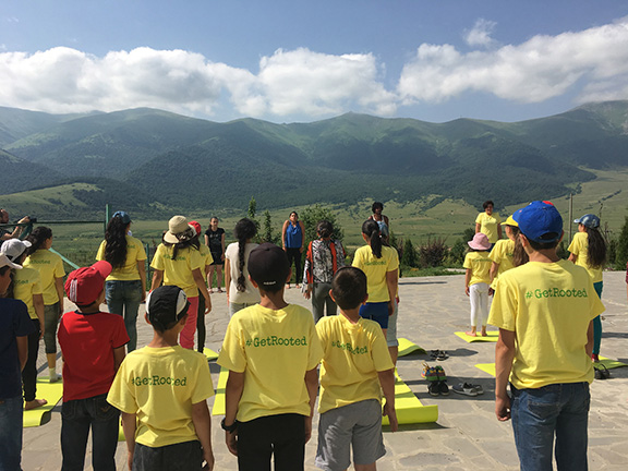 Margahovit Village provides a gorgeous backdrop for ATP's outdoor environmental education classes (Photo by Michael Chen)