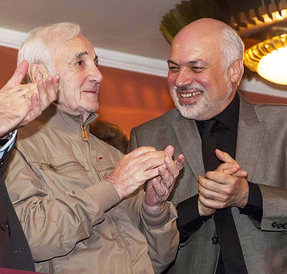 After the premier of the ballet by Rudolf Khartian based on the music of Aznavour, May 28, 2017