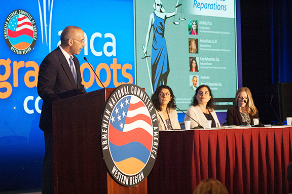 """The """"Transnational Justice"""" panel during ANCA-WR Grassroots Conference"""