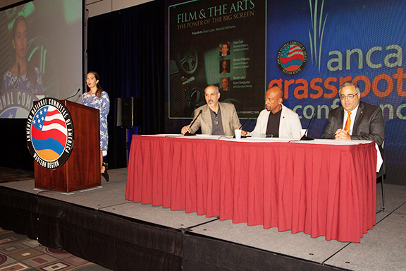 """The """"Film and Arts"""" panel during ANCA-WR Grassroots Conference"""