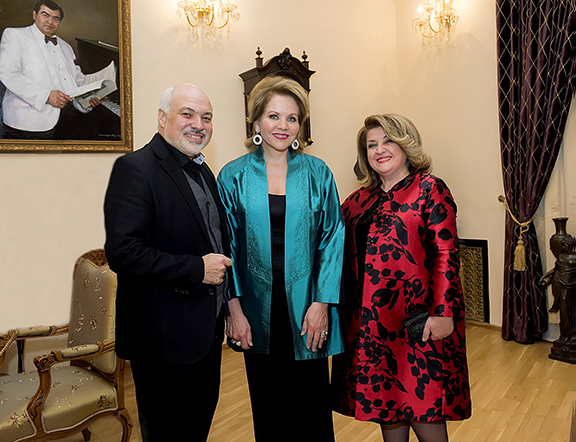 Maestro Constantine Orbelian, Renee Fleming and the First Lady of the Republic of Armenia